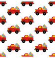 truck woth presents pattern vector image vector image