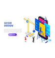 ui design concept with smartphone crane and vector image