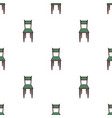 wooden chair icon in cartoon style isolated on vector image