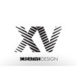 xv x v lines letter design with creative elegant vector image vector image