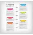 Timeline Infographics with soft gray boxes and vector image