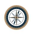 antique sea compass icon wind rose vector image