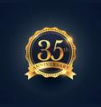 35th anniversary celebration badge label