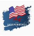 4th july independence day card template vector image