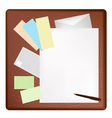 A Pen Lying on A Blank Page and Envelope vector image vector image