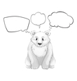 A white polar bear with empty thoughts vector image vector image