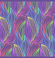 abstract magic color pattern leaves and drops vector image vector image