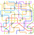 abstract metro map in shape circle vector image
