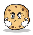 angry face sweet cookies character cartoon vector image vector image
