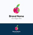 Apple fruit logo vector image vector image