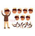 arab muslim boy child kid teen vector image vector image
