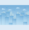 blue sky with cloud and urban buildings design in vector image