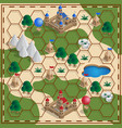 board game medieval theme vector image vector image