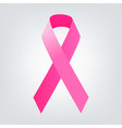 breast cancer awareness pink ribbon women vector image