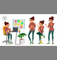 business woman lady character working female it vector image vector image