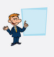 businessman relaxed speak content showing vector image vector image