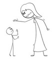 cartoon big woman and small man or boss vector image