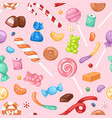 cartoon sweet bonbon sweetmeats candy kids food vector image