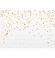 celebration background template with gold confetti vector image vector image