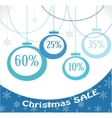 christmas sale christmas decoration and balls vector image