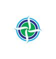 circle aero logo vector image vector image