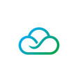 cloud line technology logo vector image