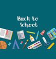 collection of school supplies icons flat vector image