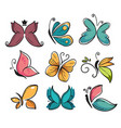 corporate identity butterflies isolated icons vector image vector image