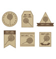 craft labels with craspedia vector image