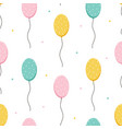 cute colorful balloons and dots seamless pattern vector image