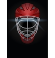 Dark Background of hockey helmet vector image vector image