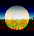 day and night in a modern city vector image