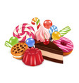 dessert background with homemade vector image vector image