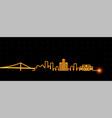 detroit light streak skyline vector image vector image