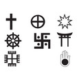 different religions symbols vector image vector image