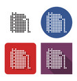 dotted icon oil storage tank in four variants vector image vector image