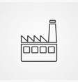 factory icon sign symbol vector image vector image