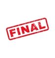 Final Text Rubber Stamp vector image vector image