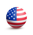 flag of usa in the form of a ball vector image