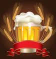 Glass of wheat beer vector | Price: 3 Credits (USD $3)