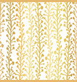 gold foil nature background seamless vector image vector image