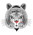 graphic portrait ornamental tiger vector image vector image