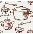 grunge kitchen vector image vector image
