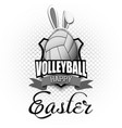 happy easter volleyball ball in form a egg vector image vector image