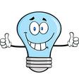 Happy light bulb cartoon vector image vector image