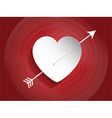 Heart design with arrow vector image vector image