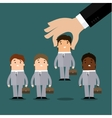 Human resources concept hiring or recruitment vector image