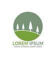 landscape logo design vector image vector image