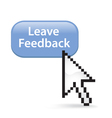Leave Feedback Button Click vector image vector image