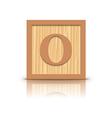 letter O wooden alphabet block vector image vector image
